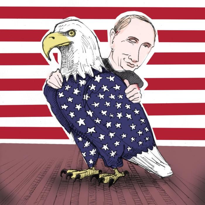 putin-and-eagle