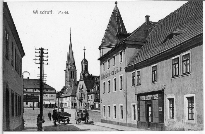 14281-Wilsdruff-1912-Markt_mit_Hotel_Goldener_Löwe-Brück_&_Sohn_Kunstverlag